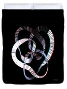 Knotplot 2 - Use Red-cyan 3d Glasses Duvet Cover