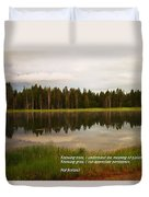 Knowing Trees Duvet Cover