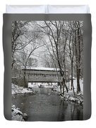Knox Valley Forge Covered Bridge In Winter Duvet Cover