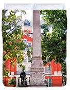 Knoxville Old Courthouse Grounds Duvet Cover