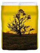 Koa Tree Silhouette Duvet Cover