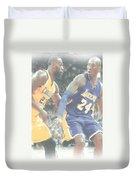 Kobe Bryant Lebron James 2 Duvet Cover