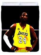 Kobe Bryant Ready For Battle Duvet Cover