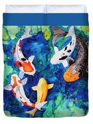 Koi Family Duvet Cover