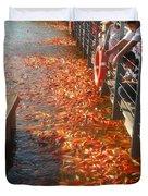 Koi Fishes In Feeding Frenzy Part Two Duvet Cover