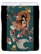 Koi Mermaid 2/4 Duvet Cover