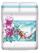 Koi Of The Tropics Duvet Cover
