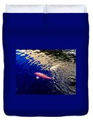 Koi On Blue And Gold Duvet Cover