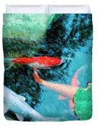Koi Pond 4 Duvet Cover