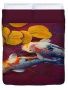 Koi Pond II Duvet Cover