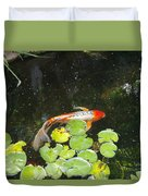 Koi With Lily Pads B Duvet Cover
