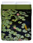 Koi With Lily Pads E Duvet Cover