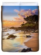 Koki Beach Sunrise Duvet Cover by Inge Johnsson
