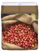 Kona Coffee Bean Harvest Duvet Cover