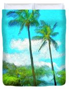 Kona Palms Duvet Cover