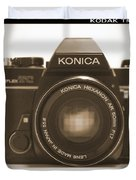 Konica Tc 35mm Camera Duvet Cover by Mike McGlothlen