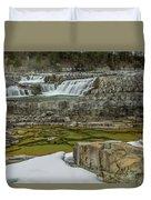 Kootenai Falls In Winter Duvet Cover