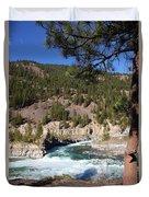 Kootenai Falls, Montana Duvet Cover