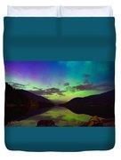 Kootenay Lake Northern Lights Duvet Cover
