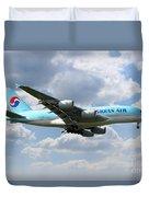 Korean Air Airbus A380 Duvet Cover