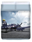 Korean War Hero F4-u Corsair Duvet Cover