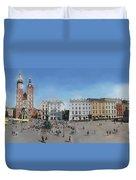 Krakow, Town Square Duvet Cover