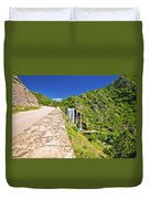 Krcic Waterfall In Knin Scenic View Duvet Cover