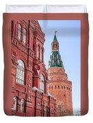 Kremlin Tower In Moscow Duvet Cover