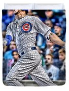 Kris Bryant Chicago Cubs Duvet Cover