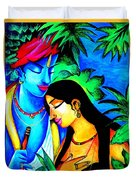 Krishna And Radha Duvet Cover