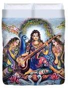 krishna - Kirtan  Duvet Cover