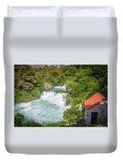 Krka Waterfall Croatia Duvet Cover