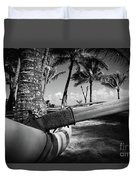 Kuau Palm Trees Hawaiian Outrigger Canoe Paia Maui Hawaii Duvet Cover