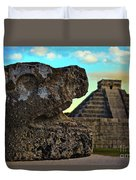 Kukulkan Pyramid At Chichen Itza In The Yucatan Of Mexico Duvet Cover