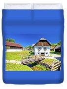 Kumrovec Picturesque Village In Zagorje Region Of Croatia Duvet Cover