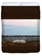 Kure Beach Pier Duvet Cover