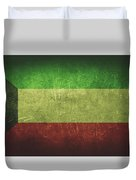 Kuwait Distressed Flag Dehner Duvet Cover