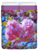 Kwanzan Cherry Blossoms Duvet Cover