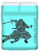 Kylo Ren - Star Wars Art - Blue Duvet Cover