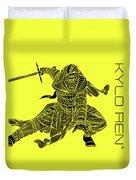 Kylo Ren - Star Wars Art - Yellow Duvet Cover