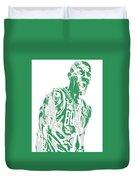Kyrie Irving Boston Celtics Pixel Art 42 Duvet Cover