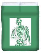 Kyrie Irving Boston Celtics Pixel Art 7 Duvet Cover