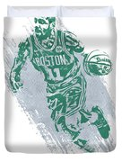 Kyrie Irving Boston Celtics Water Color Art 2 Duvet Cover