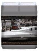 Kyushu Bullet Train Locomotive Duvet Cover