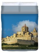 L-imdina Castle City Cathedral And Walls Duvet Cover