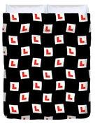 L-plate Wallpaper Duvet Cover