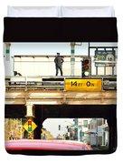 L Stop Cop Duvet Cover