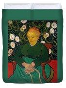 La Berceuse. Woman Rocking A Cradle. Augustine-alix Pellicot Roulin Duvet Cover