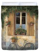 La Bici Duvet Cover by Guido Borelli