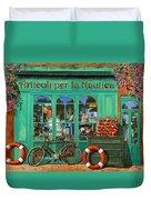 La Bicicletta Rossa Duvet Cover